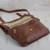 Leather messenger bag, 'Rio Adventure in Chestnut' - Handcrafted Brown Leather Messenger Bag from Brazil (image 2d) thumbail