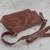 Leather messenger bag, 'Rio Adventure in Chestnut' - Handcrafted Brown Leather Messenger Bag from Brazil (image 2e) thumbail