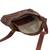 Leather messenger bag, 'Rio Adventure in Chestnut' - Handcrafted Brown Leather Messenger Bag from Brazil (image 2h) thumbail