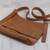 Leather messenger bag, 'Rio Adventure in Burnt Sienna' - Handcrafted Brown Leather Messenger Bag from Brazil (image 2b) thumbail