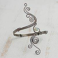 Opal arm band, 'Fantastic Waves' - Opal Arm Band Crafted in Brazil