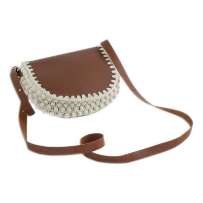 Novica Faux leather sling, Mimosa