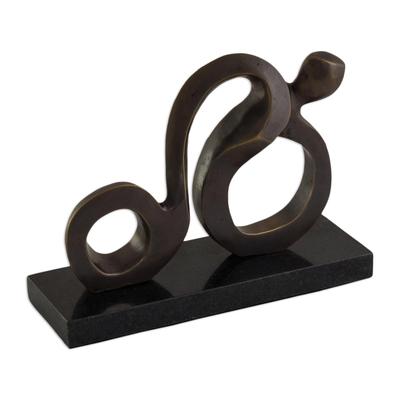 Fine Art Bronze Abstract Sculpture from Brazil
