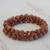 Sunstone beaded stretch bracelets, 'Strength and Energy' (pair) - Two Sunstone Beaded Stretch Bracelets from Brazil (image 2c) thumbail