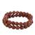 Sunstone beaded stretch bracelets, 'Strength and Energy' (pair) - Two Sunstone Beaded Stretch Bracelets from Brazil (image 2d) thumbail