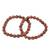 Sunstone beaded stretch bracelets, 'Strength and Energy' (pair) - Two Sunstone Beaded Stretch Bracelets from Brazil (image 2e) thumbail