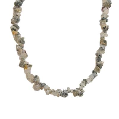 Long Quartz Beaded Necklace Crafted in Brazil