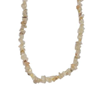 Quartz Beaded Necklace with Honey Hues from Brazil
