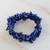 Lapis lazuli beaded stretch bracelets, 'Lapis Trio' (set of 3) - Three Lapis Lazuli Beaded Stretch Bracelets from Brazil thumbail