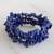 Lapis lazuli beaded stretch bracelets, 'Lapis Trio' (set of 3) - Three Lapis Lazuli Beaded Stretch Bracelets from Brazil (image 2b) thumbail