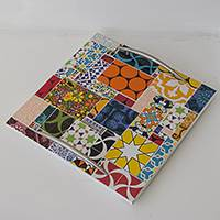 Ceramic tile tray, 'Colorful Life' - Brazilian Tray with Colorful Ceramic Tiles