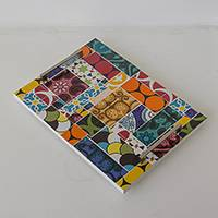 Ceramic tile tray, 'Colorful World' - Handcrafted Ceramic Tile Tray from Brazil