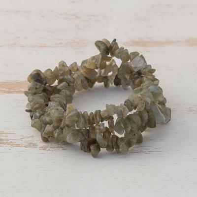 Citrine Labradorite Rhodochrosite Bracelet Set.