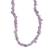 Amethyst beaded necklace, 'Lilac and Lavender' - Amethyst Beaded Necklace from Brazil (image 2e) thumbail