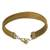 Gold accented golden grass wristband bracelet, 'Gleam of the Sun' - Gold Accented Golden Grass Wristband Bracelet from Brazil (image 2a) thumbail