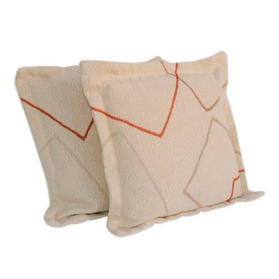 Geometric Cotton Cushion Covers from Brazil (Pair)