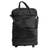 Expandable leather wheeled travel bag, 'Style Traveler in Black' - Expandable Leather Wheeled Travel Bag in Black from Brazil (image 2a) thumbail