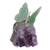 Quartz and amethyst gemstone sculpture, 'Verdant Wings' - Quartz and Amethyst Butterfly Gemstone Sculpture from Brazil (image 2a) thumbail