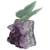Quartz and amethyst gemstone sculpture, 'Verdant Wings' - Quartz and Amethyst Butterfly Gemstone Sculpture from Brazil (image 2e) thumbail