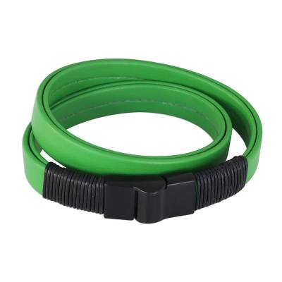 Leather-Accent Wrap Bracelet in Green from Brazil