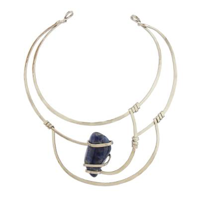 Sodalite Collar Pendant Necklace from Brazil