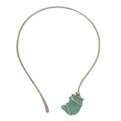 Amazonite Collar Pendant Necklace from Brazil