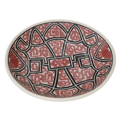 Marajoara-Style Ceramic Centerpiece Crafted in Brazil