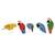 Wood decorative accents, 'Delightful Parrots' (set of 5) - Wood Parrot Decorative Accents from Brazil (Set of 5) (image 2a) thumbail