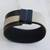 Leather wristband bracelet, 'Modern Tango' - Modern Black and White Leather Wristband Bracelet (image 2b) thumbail