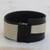 Leather wristband bracelet, 'Modern Tango' - Modern Black and White Leather Wristband Bracelet (image 2c) thumbail