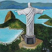 'Christ the Redeemer' - Signed Painting of Christ the Redeemer from Brazil