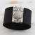 Leather wristband bracelet, 'Owl Gatekeeper in Black' - Leather Owl Wristband Bracelet in Black from Brazil (image 2) thumbail