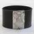Leather wristband bracelet, 'Owl Gatekeeper in Black' - Leather Owl Wristband Bracelet in Black from Brazil (image 2b) thumbail