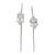 Quartz drop earrings, 'Crystalline Harmony' - Clear Quartz Drop Earrings from Brazil (image 2a) thumbail