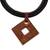 Ceramic pendant necklace, 'Beautiful Labyrinth' - Adjustable Square Ceramic Pendant Necklace from Brazil (image 2c) thumbail