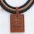 Ceramic pendant necklace, 'Rectangular Labyrinth' - Rectangular Ceramic Pendant Necklace from Brazil (image 2c) thumbail