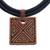 Ceramic pendant necklace, 'Triangle Labyrinth' - Triangle Pattern Ceramic Pendant Necklace from Brazil (image 2c) thumbail