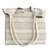 Cotton tote, 'Two-Tone Stripes' - Antique White and Sage Striped Cotton Tote from Brazil (image 2d) thumbail