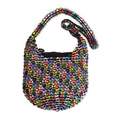 Rainbow-Hued Soda Pop-Top Bucket Bag from Brazil