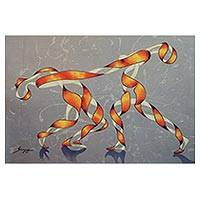 Giclee print on canvas, 'Dance' - Surreal Abstract Dancer Portrait Giclee Print on Canvas