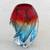 Art glass vase, 'Blue and Red Twist' - Blue and Red Handblown Art Glass Vase from Brazil (image 2b) thumbail