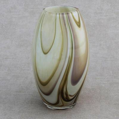 Murano Style Art Glass Vase Handblown In Brazil Murano Enchantment Novica