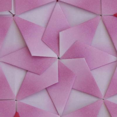 Geometric Origami Paper Wall Art In Pink And Red From Brazil Soft Geometry