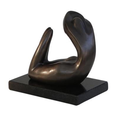 Modern Sensual Bronze Sculpture of a Woman from Brazil
