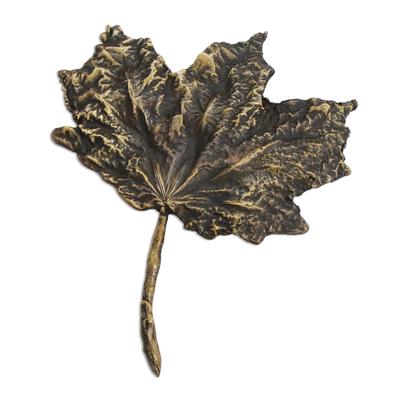 Fine Art Bronze Leaf Sculpture Created in Brazil