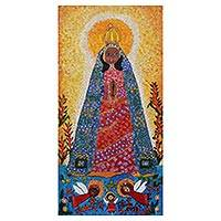 'Our Lady of Aparecida' - Our Lady of Aparecida Naif Painting from Brazil