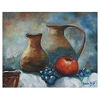 'Still Life' - Signed Realist Still Life Painting by a Brazilian Artist