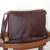 Leather messenger bag, 'Universal in Maroon' - Unisex Maroon Leather Messenger Bag from Brazil thumbail