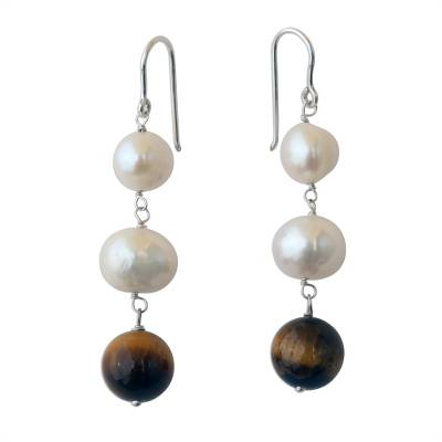 White Cultured Pearl and Tiger