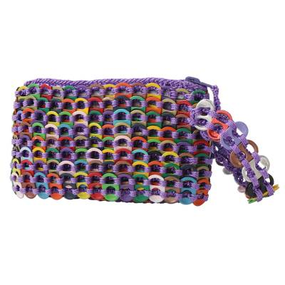 Rainbow Colored Soda Pop-Top Wristlet from Brazil